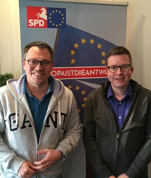 (v.l.) Tiemo Wölken MdEP und Daniel Schweer